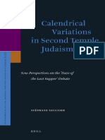 Calendrical Variations in Second Temple Judaism