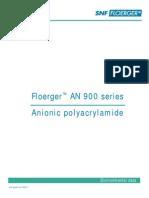 Anionic Polyacrylamaide-AN900 Series-Enviironmental Impact