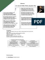 Leito de Folhas Verdes, Gonçalves Dias Análise Do Poema (Reparado)