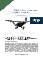 AEROMODELISMO Planos Como Hacer Un AVION Renard r 31