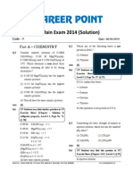 Solution Jee 2014