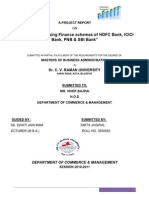 53092609 Analysis of Housing Finance Schemes of HDFC Bank ICICI Bank PNB SBI Bank