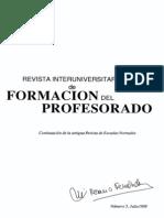 Revista Interuniversitaria - La Formacion Del Profesorado