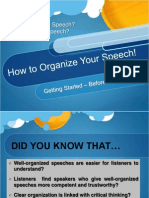 Organizing Speech