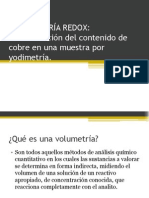 VOLUMRETRÍA REDOX