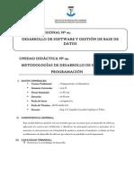 UNIDAD DIDACTICA - Metodologia de Desarrollo de Software