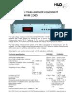 I.1 _ HVM2003e