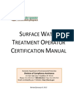 Surface Water Treatment Operator Certification Manual - Tratamiento de Aguas Residuales---