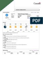 Winnipeg, MB - 7 Day Forecast - Environment Canada