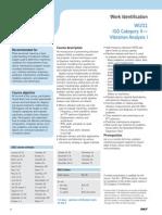 WI211 ISO Category II Vibration Analysis I