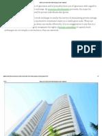 Functions of Bombay Stock Exchange