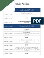 Agenda and Event Details
