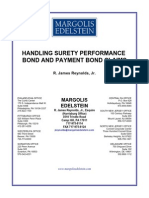 Reynolds - Surety Performance Bond Claims 1