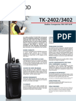 Radio Kenwood Tk-3302 K / 450-520 Mhz - 2000 Mah