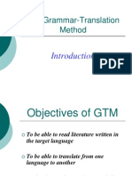Teaching Approaches Grammar Transalation Method
