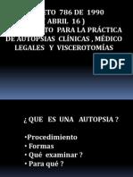 Decreto 786 Reglamento Autopsias