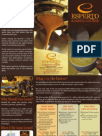 Esperto Barista Course Brochures 2013 Fin