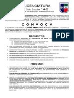 Convocatoria de Becas Licenciatura 14-2