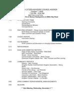 KCAC October 2009 Minutes