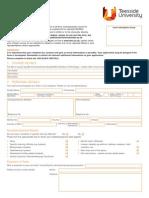 Teesside International App Form 2010 n 2011