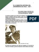 UNA PARTE DE LA SINIESTRA HISTORIA DEL CUERPO DE CARABINEROS DE CHILE   (1927 – 1989)