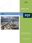 Bangladesh Economic Update by WB Oct 2012