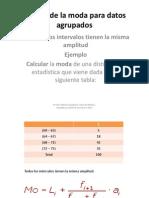 Cálculo de La Moda Para Datos Agrupados