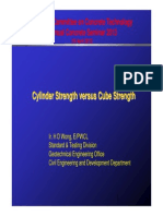 Cylinder Strength Versus Cube Strength
