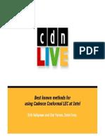 Intel Presentation conformal lec