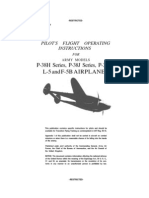 Pilot's Flight Operating Instructions for Army Models P-38H, P-38J, P-38L-1, L-5 and F-5B Airplanes