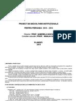 Proiect de Dezvoltare Instituţională 2010-2014