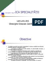 I Didactica Specialitatii Zamfirescu Gheorghe Octavian.