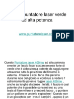 400mw Puntatore Laser Verde Ad Alta Potenza