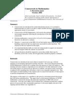 A2 MEI Maths Coursework Mark Schemes
