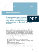 Analysis of the punishments applicable to international crimes