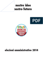 Programma elettorale Insieme per Gaggiano