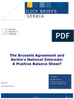 The Brussels Agreement and Serbia's National Interests