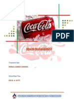 coca cola Management Project
