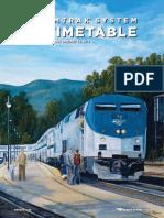 Amtrak System Timetable Winter Spring 2014
