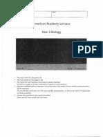 Edexcel GCSE Science Topic B1.1 Classification, Variation and Inheritance Test 13_14