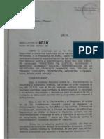 2008-07-02 Resolucion 010 Ministra DDHH Pace Recomendando Derogacion Codigos