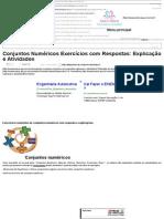 Conjuntos Numéricos Exercícios Com Respostas_ Explicação e Atividades