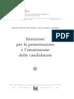 Istr. Per La Presentazione e Ammissione Delle Candidature AMMINISTRATIVE Pubbl_n_5_Aprile_2014