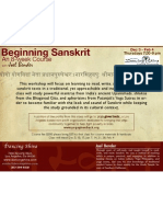 Beginning Sanskrit - An 8 Week Course
