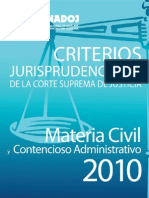 Criterios Civil Contencioso 2010 - Cenadoj