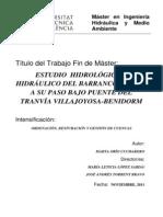 Estudio Hidrológico e Hidráulico Del Barranco Torres a Su Paso Bajo Puente Del Tranvía Villajoyo