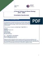 Dvsa Consultation Questionnaire Response