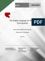 Delphi Language Mobile Development White Paper 170413