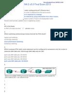 CCNA 2 v5.0 Final Exam Answers