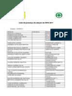 Lista de Presença Na Votação CIPA